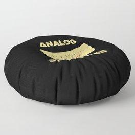 Analog VU Volume Unit Meter Sound Engineer Retro Floor Pillow