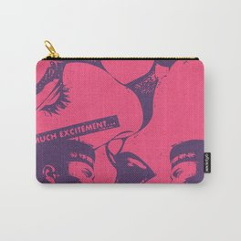 Pink Pop Art Kiss Scandal in Paris Carry-All Pouch
