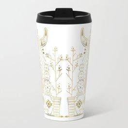 Santa Fe Garden – Gold Ink Travel Mug