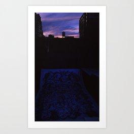 Sunset and Graffiti  Art Print