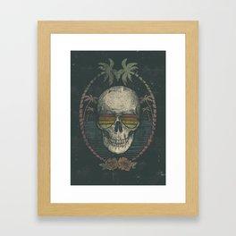 Palm Skull Framed Art Print