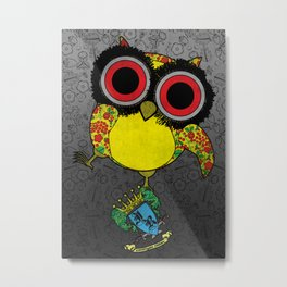 Printed Owl Metal Print