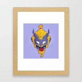 My little demon Framed Art Print