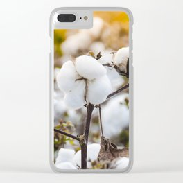 Cotton Field 4 Clear iPhone Case