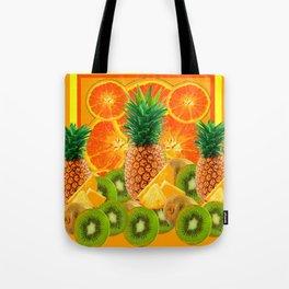 HAWAIIAN PINEAPPLE & ORANGE SLICES GREEN  KIWI FRUIT Tote Bag
