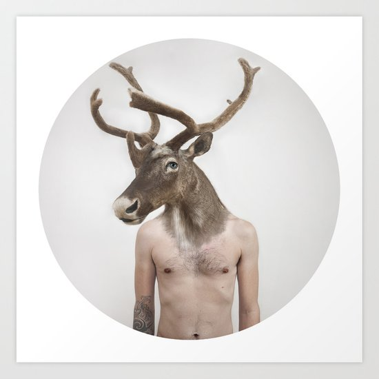 Therianthrope - Caribou Art Print
