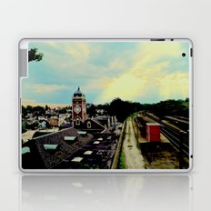 Waiting for a Train In Greensburg Laptop & iPad Skin