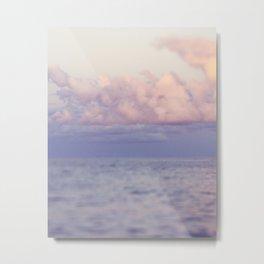 PASTEL SEAS Metal Print