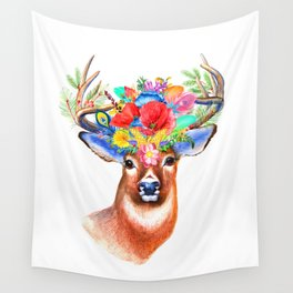 PRITTY DEER Wall Tapestry