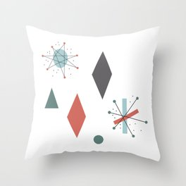 Mid Century Modern Abstract Pattern Design Throw Pillow