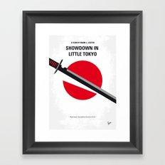 No522 My Showdown in Little Tokyo minimal movie Framed Art Print