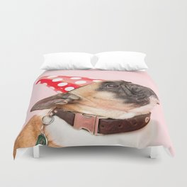 Pug Birthday Party! Duvet Cover