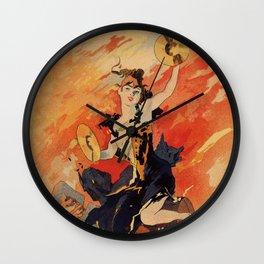 Music 1891 by Chéret Belle Epoque design Wall Clock