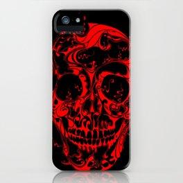 Liquid Skull Red iPhone Case