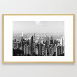 Hongkong skyline 13 Framed Art Print