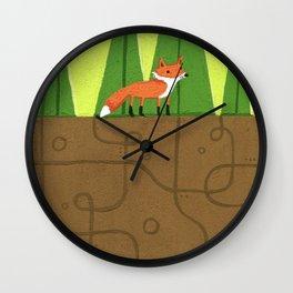 Earth Fox Wall Clock