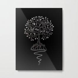 Tree of Life Light II Metal Print
