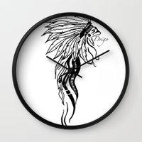 headdress Wall Clocks featuring Headdress by Drigo
