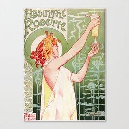 Absinthe Robette Poster- Henri Privat-Livemont Canvas Print
