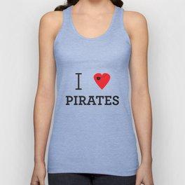 I heart Pirates Unisex Tank Top
