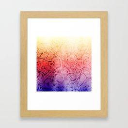 Groovy Bright Design Framed Art Print