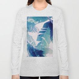 Banana Leaf Blue Long Sleeve T-shirt