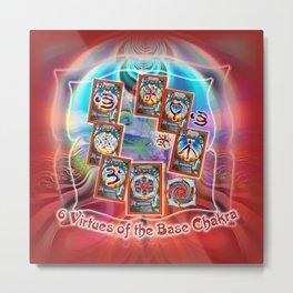 6 Virtues of the Base Chakra Metal Print