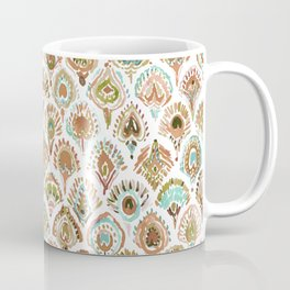 PEACOCK MERMAID Rose Gold Mint Scales and Feathers Coffee Mug
