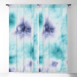 ocean tie dye Blackout Curtain