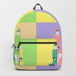 girl holding a bag . art Backpack