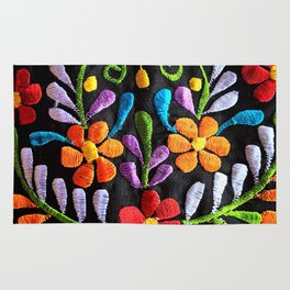Mexican Flowers Rug