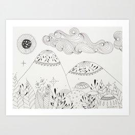 Diversity Forest Art Print