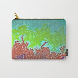 Rainbow Wing Water Marbling Carry-All Pouch