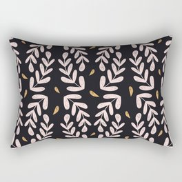 Abstract pink and gold leaves Rectangular Pillow