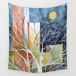 Le torri e la luna Wall Tapestry