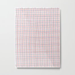 French Grid Metal Print