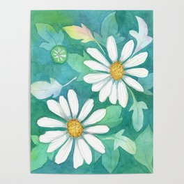Mom's Daisies Poster