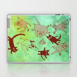 levitating kitties Laptop & iPad Skin