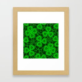 Clover Lace Pattern Framed Art Print