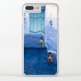 Doors - Chefchaouen IV, The Blue City - Morocco Clear iPhone Case