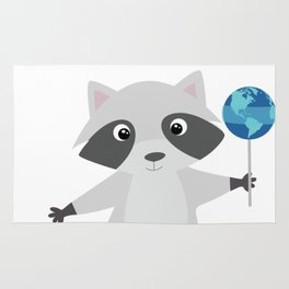 Earth Sweet Earth - Lovely Raccoon Lollipop Rug