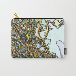 Abstract Map- Dorchester MA Carry-All Pouch