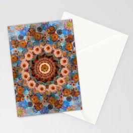 Happy light blue background Stationery Cards