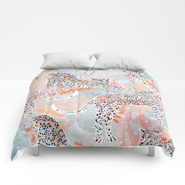 Colorful Wild Cats Comforters