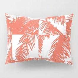 Palm Leaf Pattern Orange Pillow Sham