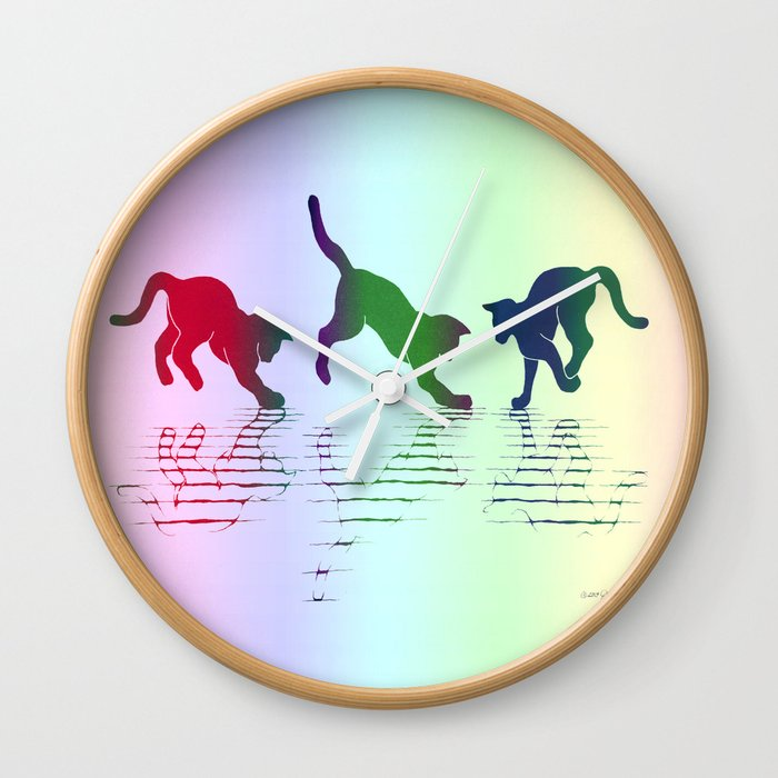 CATS RAINBOW Wall Clock