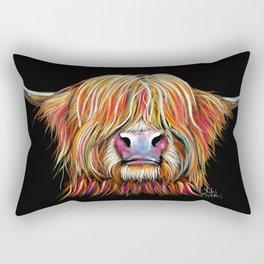 Scottish Highland Cow ' CHARMER ' by Shirley MacArthur Rectangular Pillow