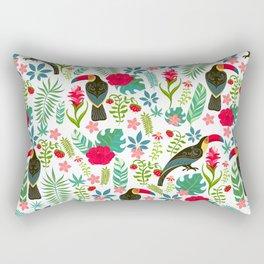 Floral Toucan Rectangular Pillow