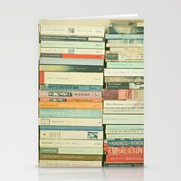 contact Stationery Cards featuring Bookworm by Cassia Beck
