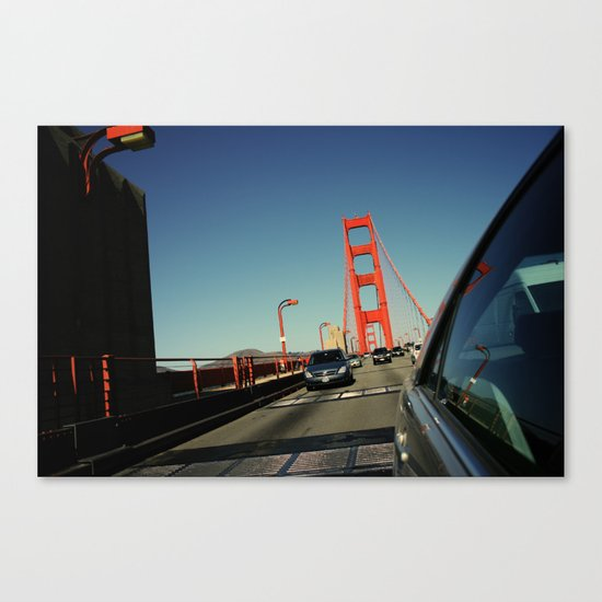 Golden Gate Bridge; Mid-Crossing. Canvas Print